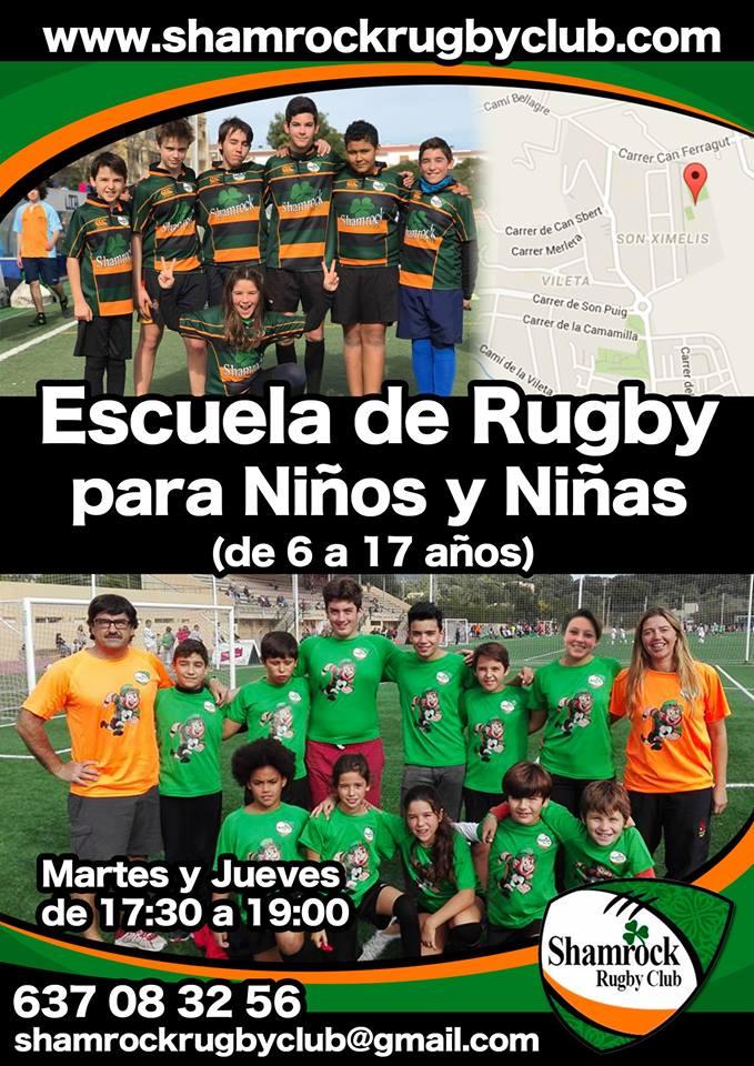 Escuela de rugby para niños y niñas en Mallorca